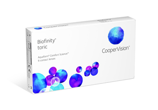 CooperVis Biofinity Toric 3 pack Discounted to $59.00