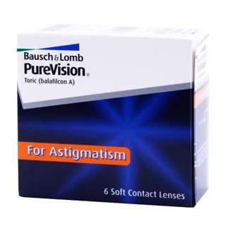NEW! B&L PureVision Toric 6 Pack