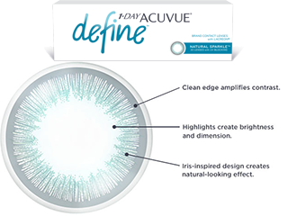 acuvue define highlight and sharpen your eyes with distinctive