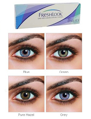 Freshlook One Day 10 Pack 19 95 Tinted Contact Lenses