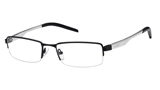 Kubni Semi Rimless Brushed Silver Frame