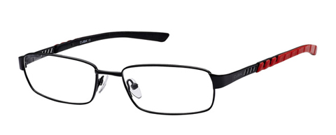 Kubni Cutout Black Metal Full Rim