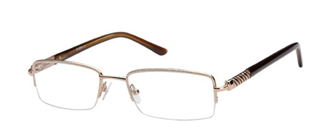 Kubni Ladies Semi-Rimless Bronze Rhinestone Frames