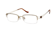 Kubni Titanium Flower Semi-Rimless Gold Glasses