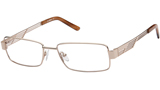 Kubni Mens Light Gold Full Rim Frame
