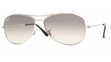 Ray Ban Cockpit Silver Gray Gradient
