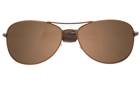 Greg Norman Oval Brown Men's Sunglasses