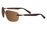 Greg Norman Chocolate Rimless Sunglasses