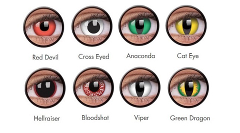 ColourVue Crazy Eyes Costume Non Prescription Lens  sc 1 st  Mylens & Crazy Eyes Costume Contact Lenses | Fancy Dress Halloween lenses.