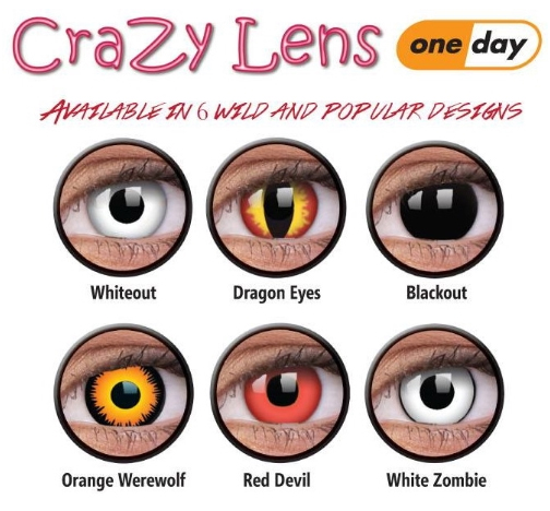 colourvue crazy lens one day coloured contacts